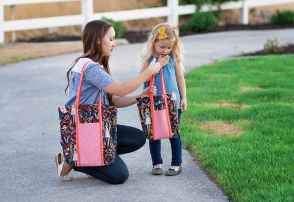 DIY Mommy & Me Tote Bag Tutorial #DIY #craft #totebag
