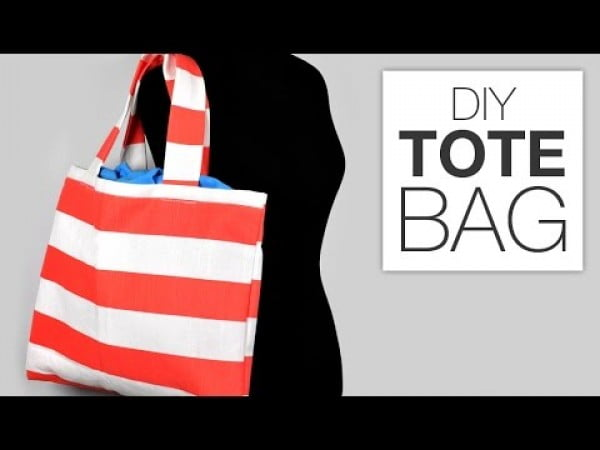 How to Sew a Simple Tote Bag #DIY #craft #totebag