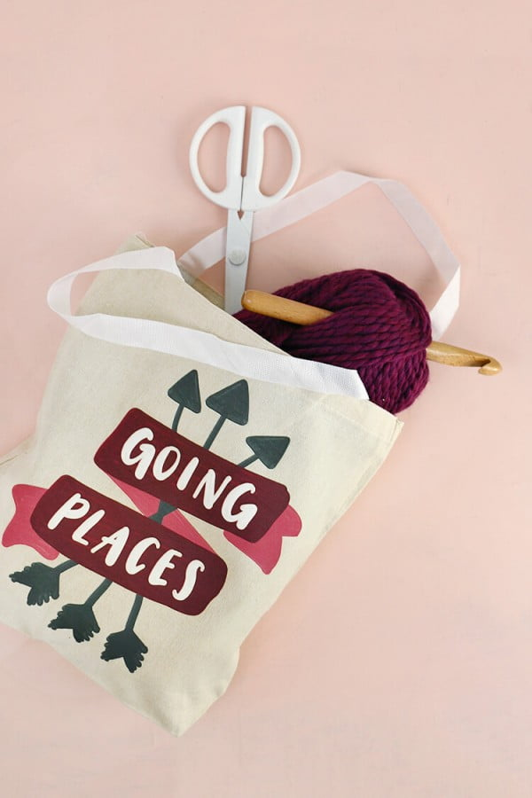 DIY Tote Bag and Stepping Forward with Confidence #DIY #craft #totebag