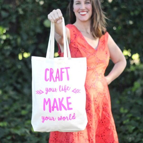 DIY heat press tote bag #DIY #craft #totebag