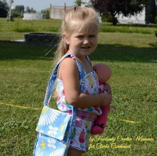 Little Girl DIY Tote Bag Tutorial #DIY #craft #totebag