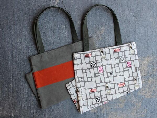 DIY: Colorful Dish Towel Tote Bag #DIY #craft #totebag