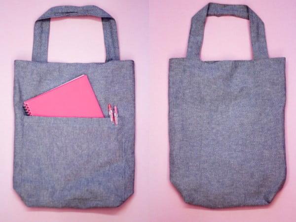 DIY Tutorial: Simple & Easy School Tote Bag #DIY #craft #totebag