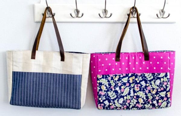 Strappy Bag with Pockets #DIY #craft #totebag
