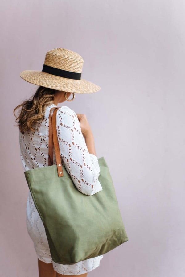 DIY Canvas Tote Bag #DIY #craft #totebag