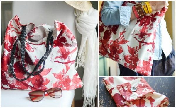 DIY TOTE BAG using fabric napkins #DIY #craft #totebag
