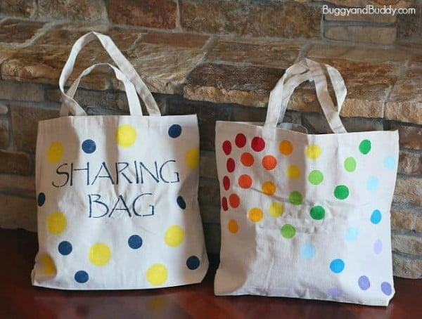 DIY Tote Bag Using Stencils #DIY #craft #totebag