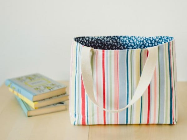 Make an Easy-to-Sew Lined Tote Bag #DIY #craft #totebag