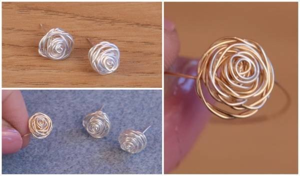 DIY Wire Wrapped Rose Jewelry #DIY #crafts #jewelry