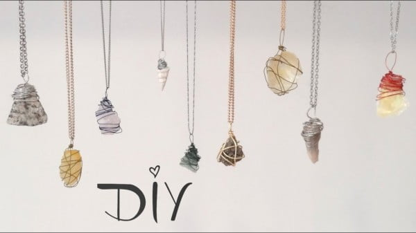 ❥ DIY Wire Wrapped Pendant : 3 Ways! #DIY #crafts #jewelry