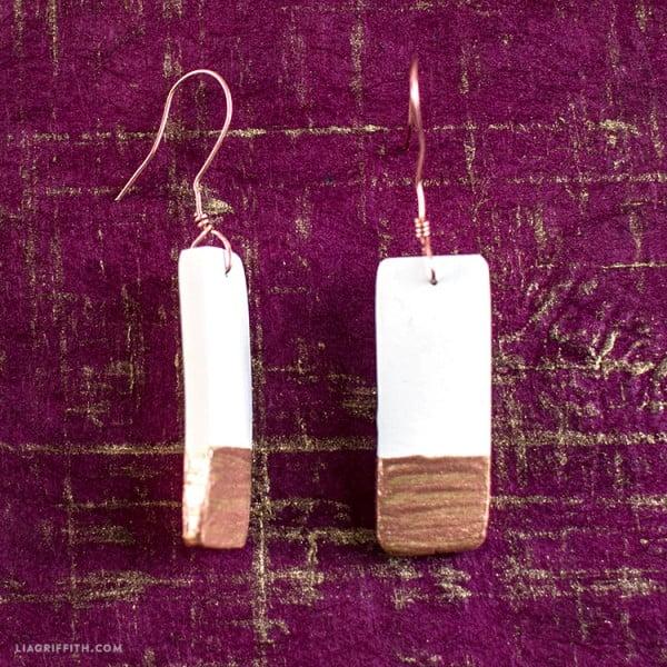 Simple DIY Painted Ceramic Earrings (Wire Wrap Tutorial) #DIY #crafts #jewelry