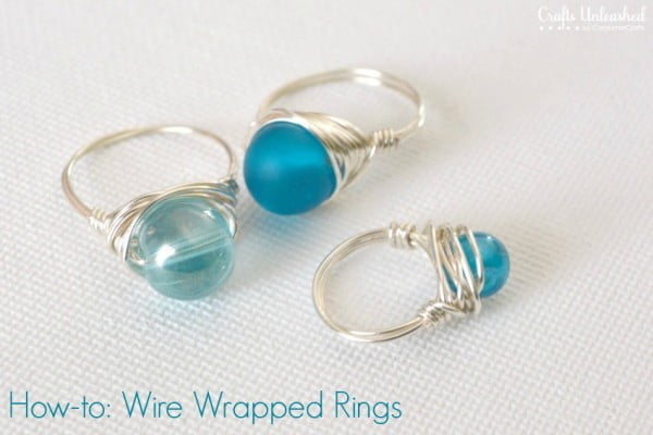 Wire Rings Tutorial: How To Make Wire Wrapped Bead Rings #DIY #crafts #jewelry
