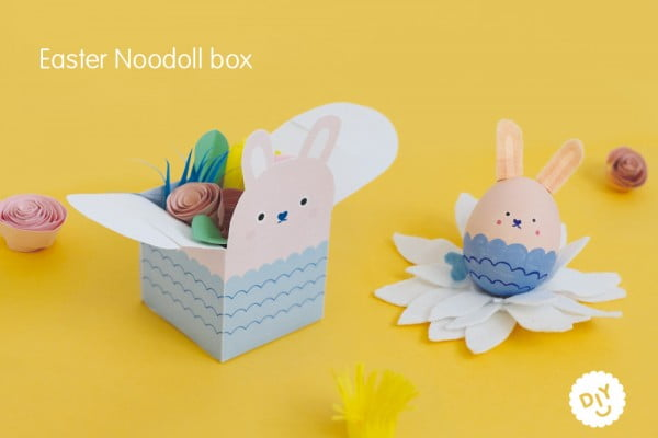 DIY Easter Ricemonster Egg Box #Easter #DIY #crafts
