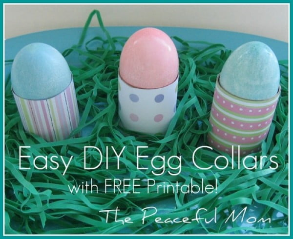 Easter Craft: Easy DIY Easter Egg Collars With FREE Printables! #Easter #DIY #crafts