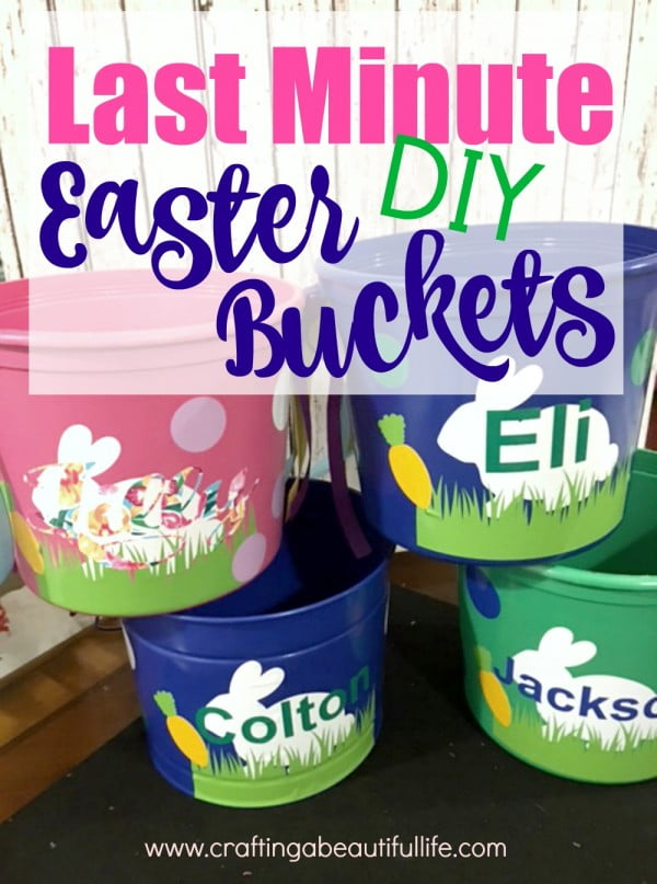 Quick DIY Easter Bucket #Easter #DIY #crafts