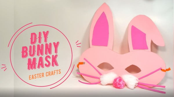 How To Make DIY Easter Bunny Mask- Easter Craft For Kids #Easter #DIY #crafts