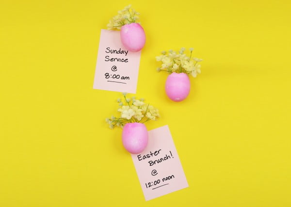 DIY Easter Egg Vase Magnets #Easter #DIY #crafts