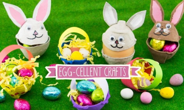 Easter Egg Carton DIY Activities For Your Kiddos #Easter #DIY #crafts