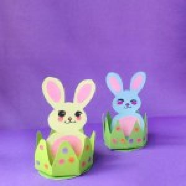 DIY Easy Easter Bunny Craft For Kids #Easter #DIY #crafts