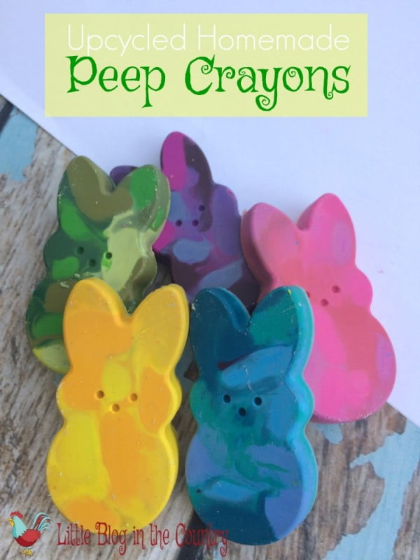 Homemade Peep Crayons Easter Craft | Simple in the Country #Easter #DIY #crafts