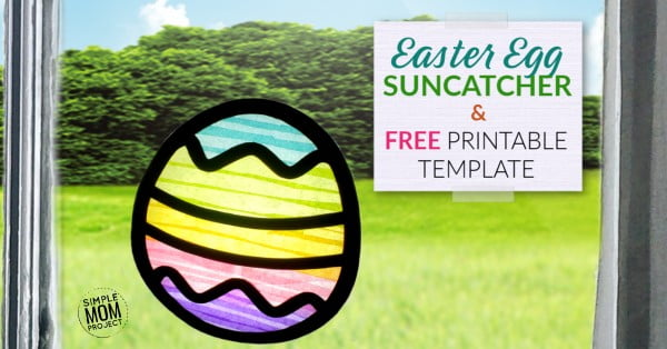 Simple DIY Easter Egg Suncatcher Craft #Easter #DIY #crafts