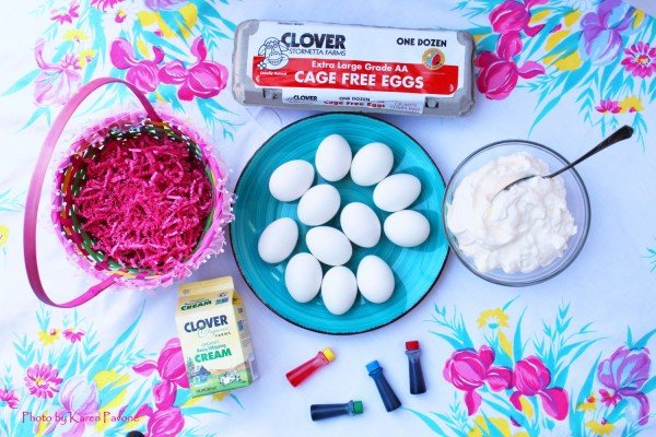 DIY Tie Dye Whipped Cream Easter Eggs #Easter #DIY #crafts