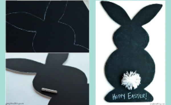 DIY Easter Chalkboard Craft Project #Easter #DIY #crafts