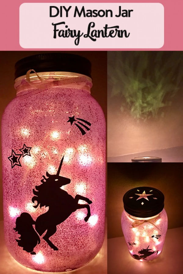 DIY Mason Jar Fairy Lantern • The Inspired Home #DIY #craft #fairyjar #masonjar #homedecor