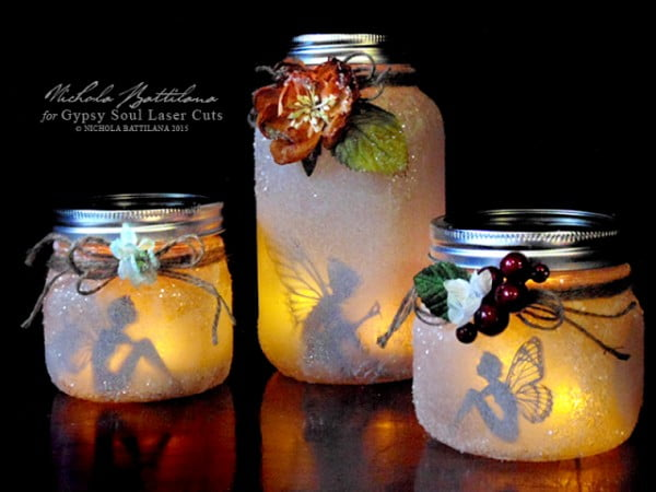 DIY Mason Jar Fairy Lantern Tutorial (Video) #DIY #craft #fairyjar #masonjar #homedecor