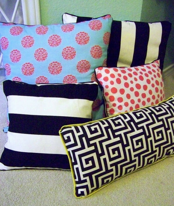 DIY No Sew Pillows #nosew #DIY #craft #homemade #pillow