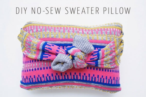 No-Sew Pillow Case Patterns #nosew #DIY #craft #homemade #pillow
