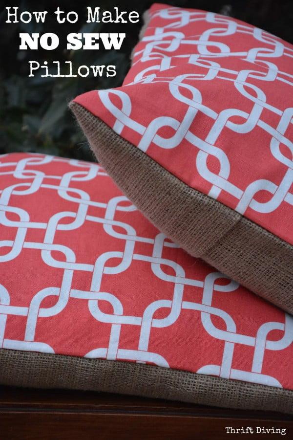 #nosew #DIY #craft #homemade #pillow