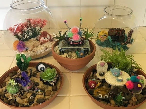 How to Make a Rock Garden for Your Pet Rock! DIY Craft. #DIY #craft #toys #petrock