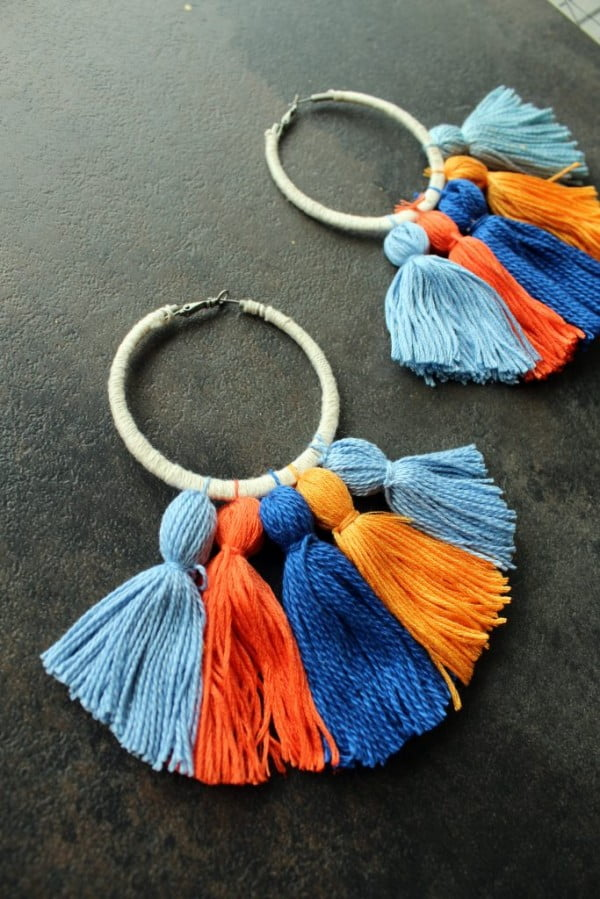How To Make Easy DIY Boho Tassel Earrings #DIY #jewelry #earrings #crafts