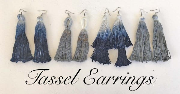 DIY Dip-Dye Tassel Earrings #DIY #jewelry #earrings #crafts