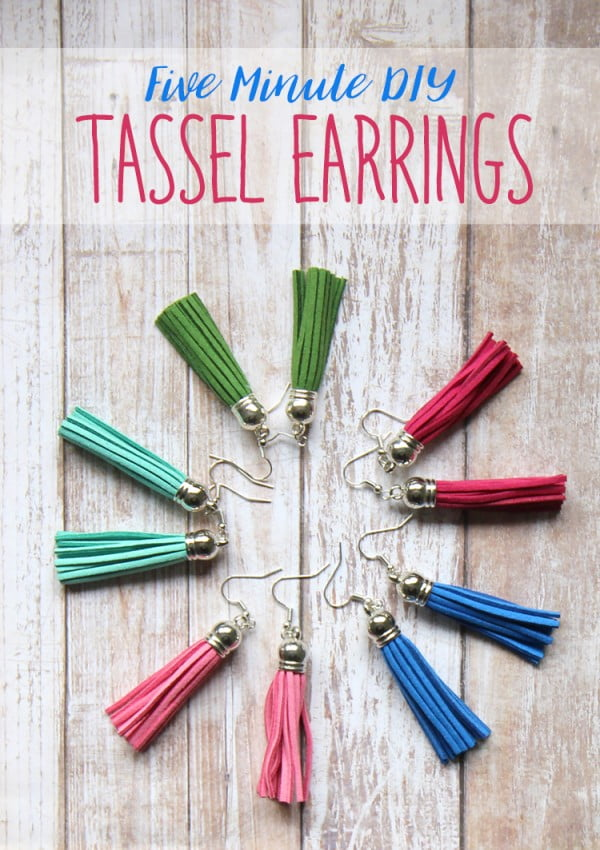 DIY Easy Tassel Earrings Tutorial #DIY #jewelry #earrings #crafts