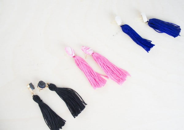 Easy DIY Tassel Earrings #DIY #jewelry #earrings #crafts