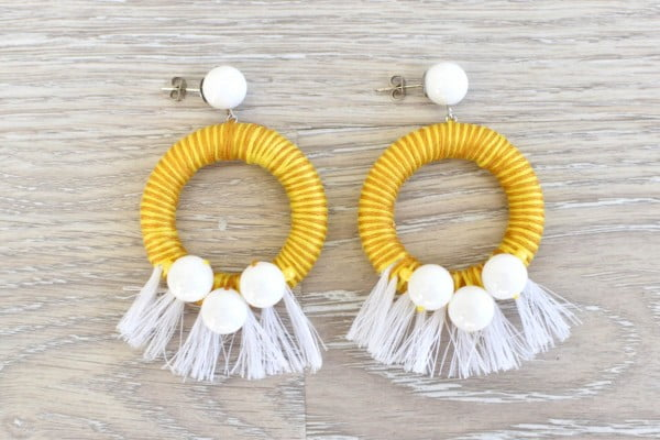 DIY Tassel Earrings • theStyleSafari #DIY #jewelry #earrings #crafts