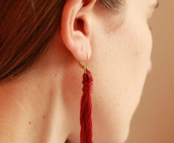 DIY Tassel Earrings #DIY #jewelry #earrings #crafts