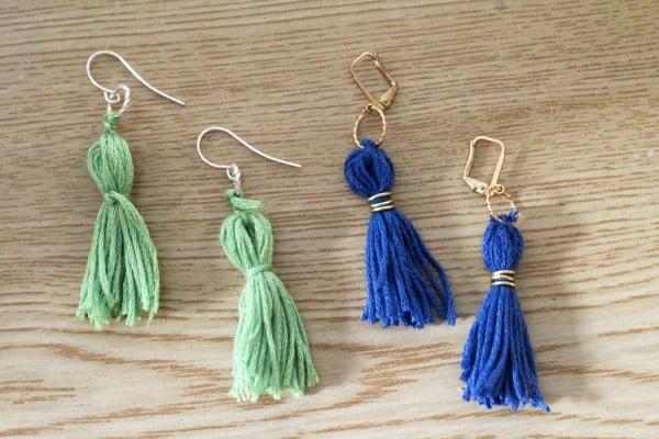 DIY TASSEL EARRINGS #DIY #jewelry #earrings #crafts