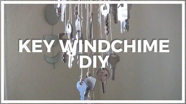 Key Wind Chime ♥ DIY #DIY #crafts #windchimes