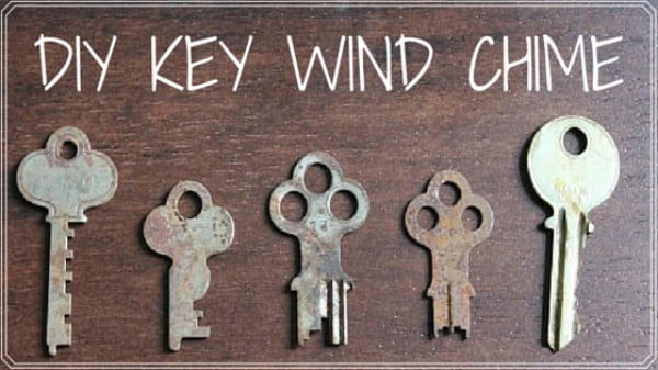 DIY Key Wind Chime #DIY #crafts #windchimes