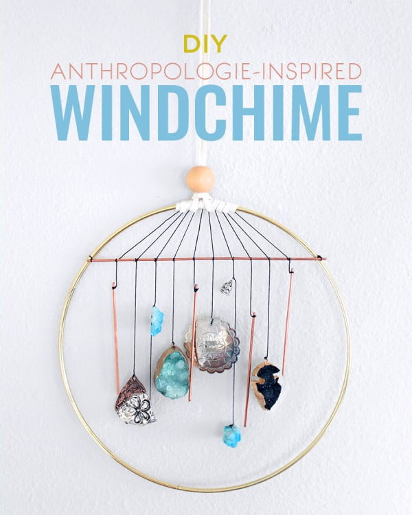 DIY Anthropologie-Inspired Wind Chime #DIY #crafts #windchimes