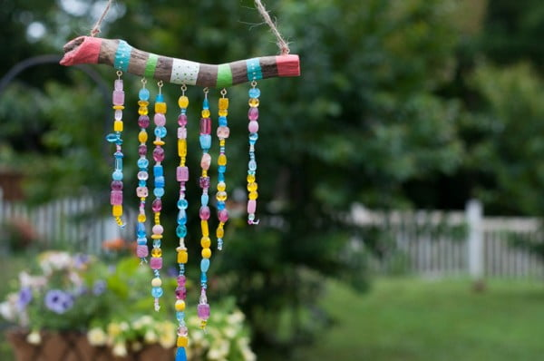 DIY Wind Chimes For Kids: Step by Step #DIY #crafts #windchimes