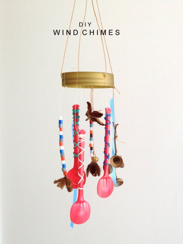 DIY Wind Chimes ⋆ Handmade Charlotte #DIY #crafts #windchimes