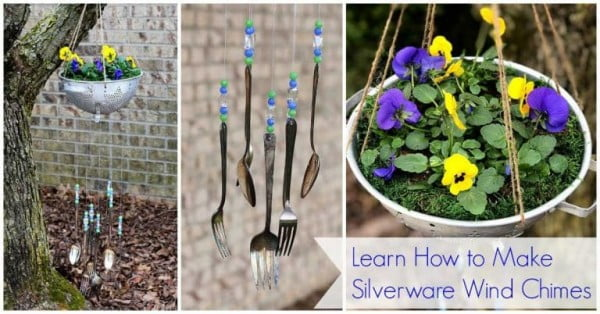 How To Make Silverware Wind Chimes #DIY #crafts #windchimes