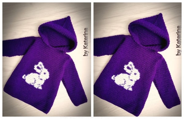 Toddler Bunny Hoodie Sweater Free Crochet Pattern #crochet #crochetpattern #DIY #craft