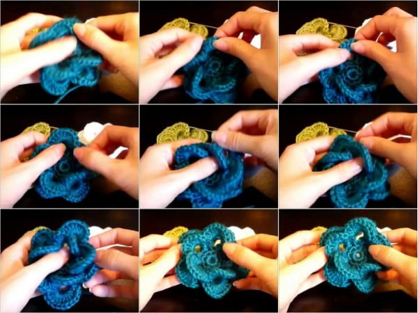 DIY Crochet Wagon Wheel Flower Free Crochet Pattern #crochet #crochetpattern #DIY #craft