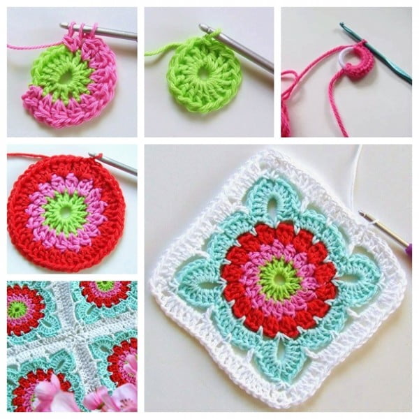 Perfectly Pretty DIY Crochet Flower Blanket #crochet #crochetpattern #DIY #craft