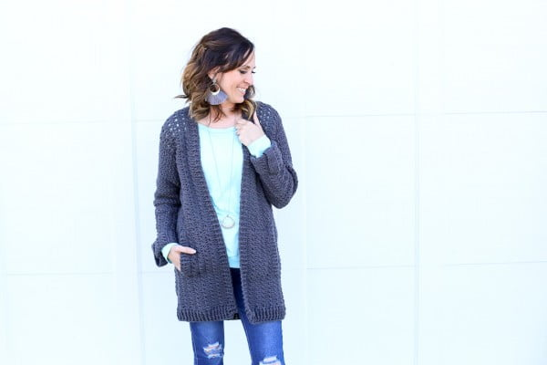 DIY Crochet Cardigan #crochet #crochetpattern #DIY #craft
